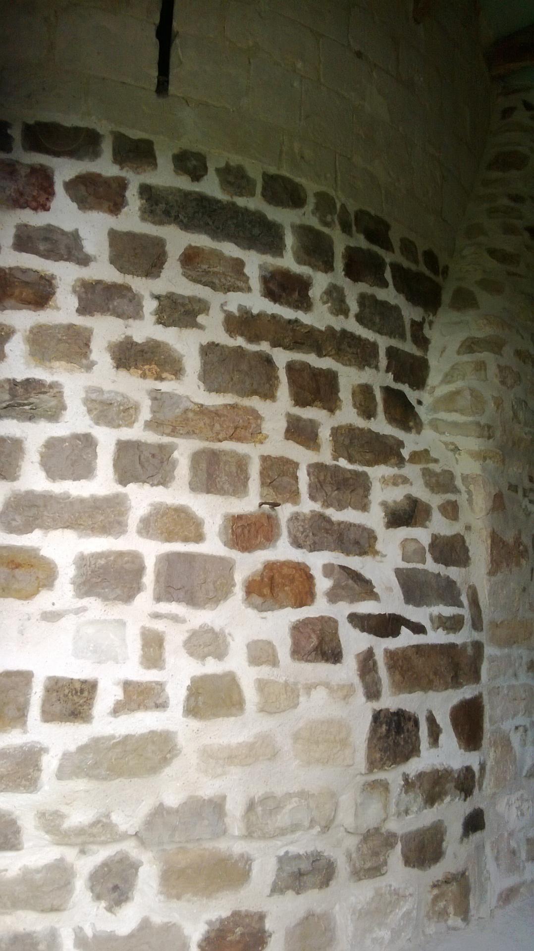 Mur en pierres intérieur